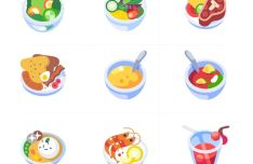 9 Vector Food Illustration Icons