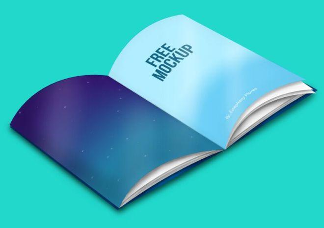 Opend Magazine & Book PSD Mockup