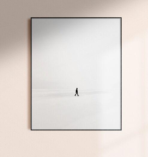 Realistic Minimal Wall Frame PSD Mockup