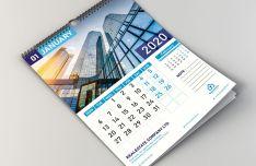 Print-ready 2020 Calendar Mockup For Illustrator