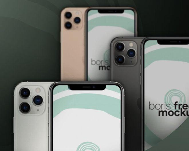 iPhone 11 Pro Max PSD Mockup (4 Colors)