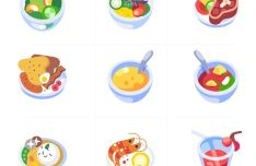 Small Food Illustrations (AI)