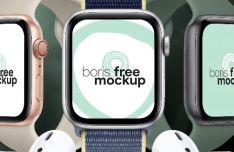 Realistic Apple Watch Series 5 PSD Mockup