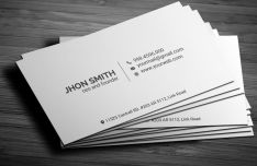 Minimalist Rounded & Rectangle Business Card PSD Template