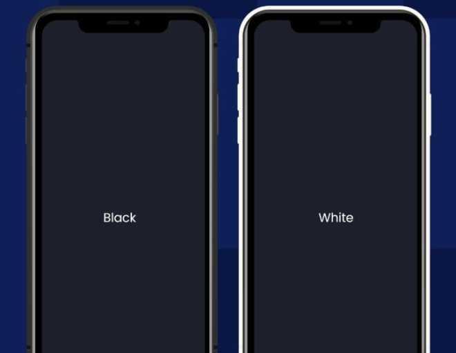 Black White iPhone 11 Mockup For Adobe XD