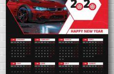 Wall Calendar 2020 PSD Template