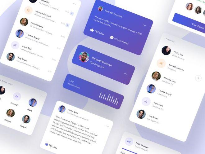Modern Card App UI Kit For XD
