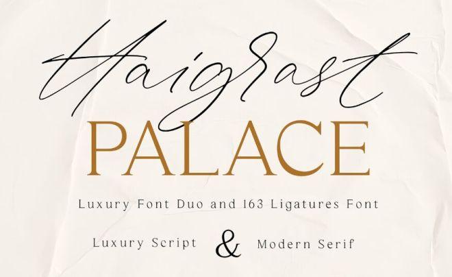 Haigrast Luxury Script & Modern Serif Font