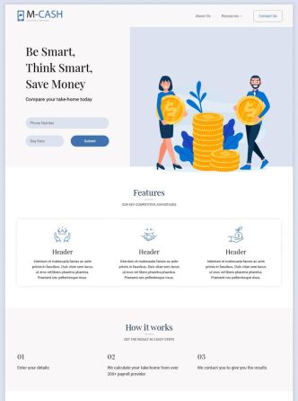 Pretty Clean Accounting Landing Page PSD Template