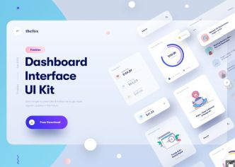 Neumorphic Dashboard Interface UI Kit Sketch