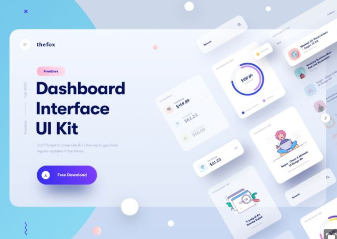 Neumorphic Dashboard Interface UI Kit Sketch