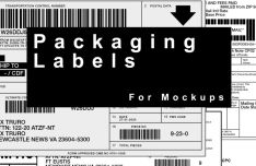 Shipping Labels For Packaging Mockups