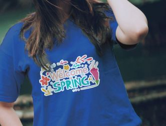 Women's T-shirt With Model PSD Mockup
