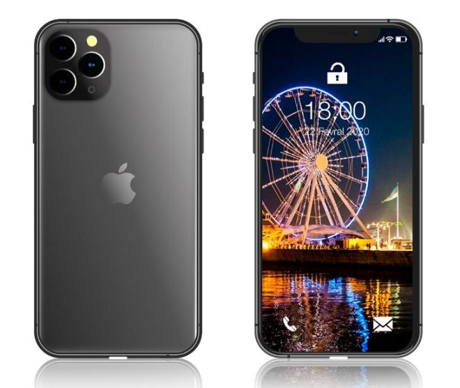 Standing iPhone 11 Pro (Front & Back) Mockup PSD