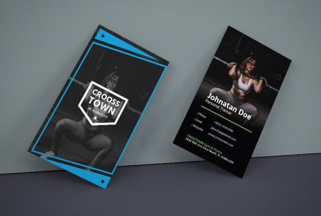 Creative Gym Business Card Vector Template