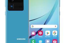 Standing Samsung Galaxy S20 PSD Mockup