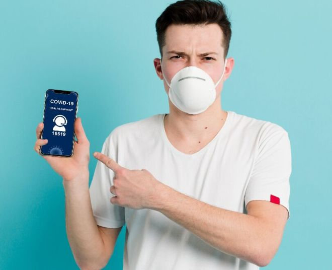 Man With Mask Coronavirus Mockup PSD