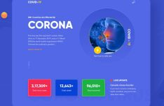 Elegant Coronavirus Disease (COVID-19) Landing Page Template For Sketch