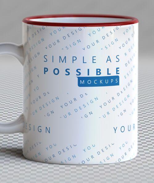 Easy To Edit Mug PSD Mockup