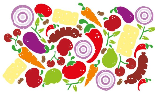 Hand Painting Food Pattern Vector
