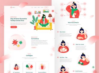 Pretty Clean COVID-19 Landing Page Template