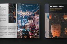 Photorealistic Magazine Template For Illustrator