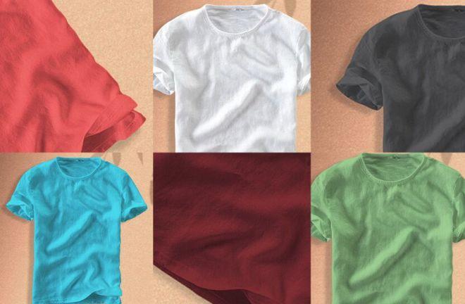 Cotton T-shirt PSD Mockup