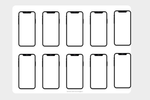 Minimal iPhone X Template For Adobe XD