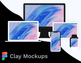 Apple Device Clay Mockup For Figma