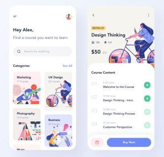Online Course App UI Design Figma