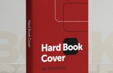 Pixel Perfect Hard Book Cover PSD