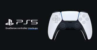 PlayStation 5 DualSense Controller Mockups