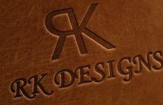 Realistic Leather Logo Mockup PSD