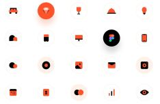 Household Energy Monitor Sketch Icons