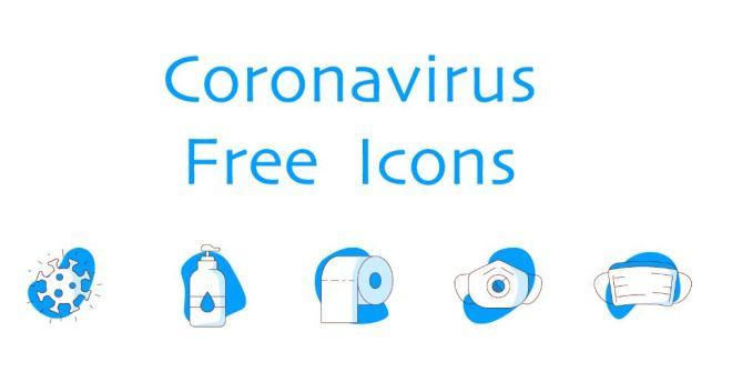 5 Minimal Coronavirus Icons (AI, PNG, SVG)