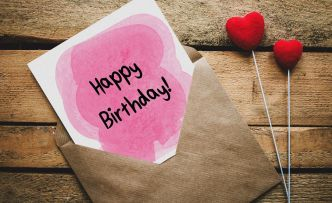 Birthday Greeting Card Template PSD