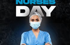 International Nurses Day PSD Poster Mockup