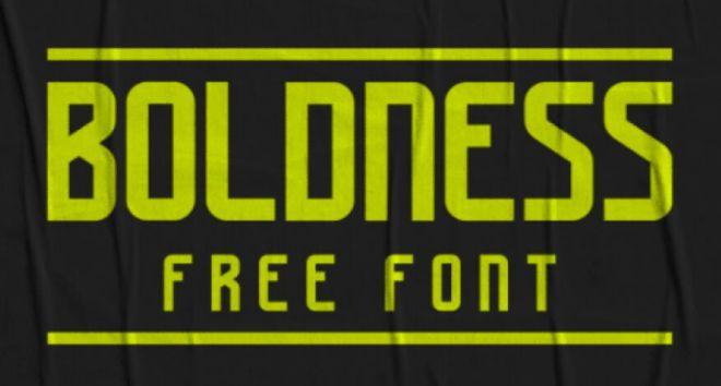 Boldness Font