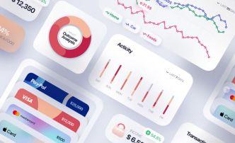 Clean Finance App UI Kit For Sketch