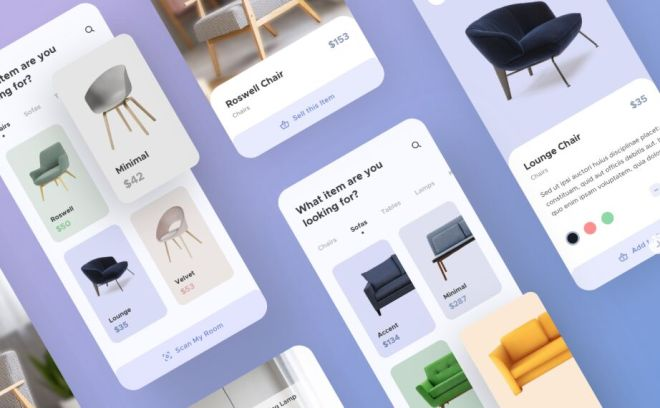 Furniture App UI Kit For Sketch