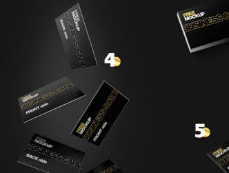 Professional Business Card Mockup (7 Scenes)