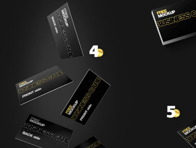 Professional Business Card Mockup (7 Scenes)