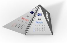 Creative Pyramid Calendar Template PSD