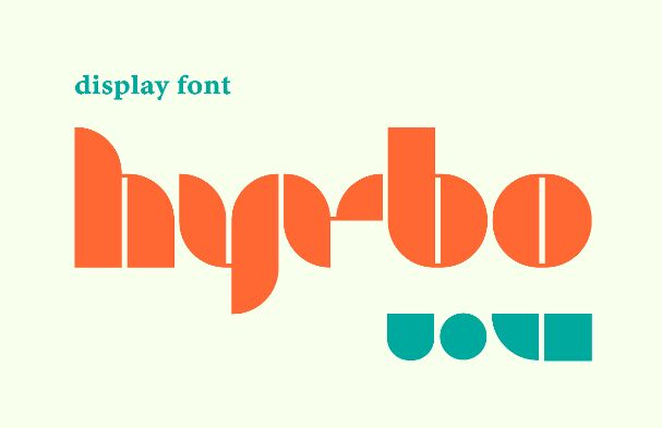Hyrbo Geometric Display Font
