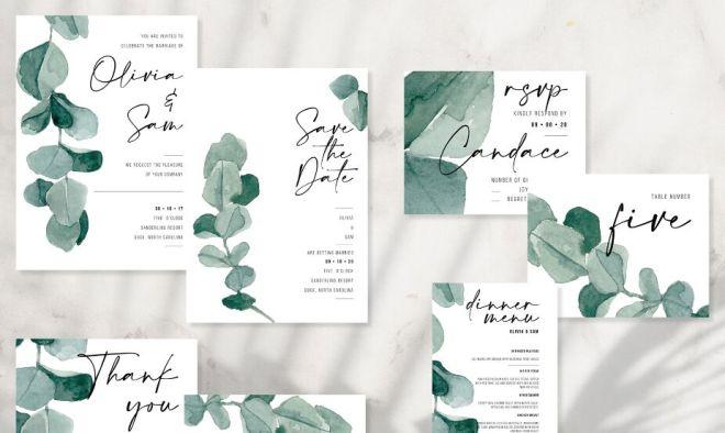 Elegant Wedding Stationery PSD Mockup