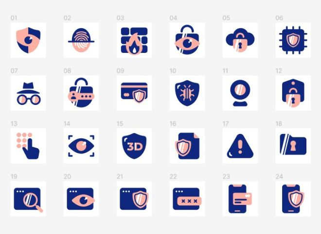 24 Security Icons Figma