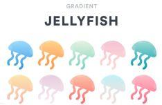 Gradient Jellyfish Sketch