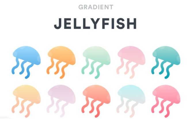 Gradient Jellyfish Sketch