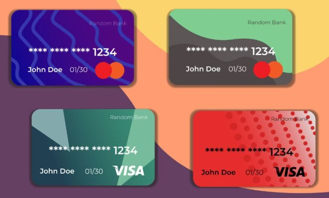 4 Credit Card SVG Icons