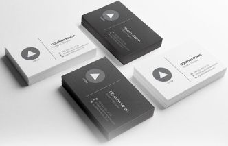 Minimal Black & White Business Card Vector Template